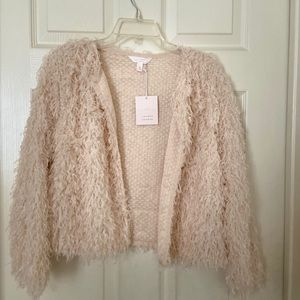 Lauren Conrad LC blush feathered jacket S